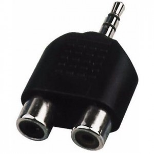 Adapter 2xRCA - jack 3.5mm - Monacor NTA-105