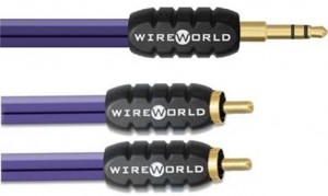 Interkonekt 3,5mm Mini Jack - 2 x RCA - Wireworld Pulse 1m