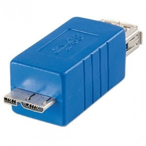 Adapter USB 3.0 gn.A -> wtyk Micro-B - Lindy 71274
